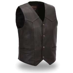 First MFG XPERT Performance Mens Premium Traditional Leather Vest