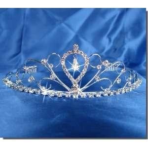 SC Bridal Wedding Tiara Crown With Center Drop 40596