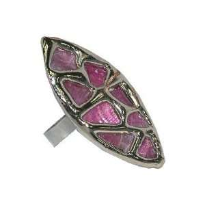 Pink Eye Metal Ring Jewelry