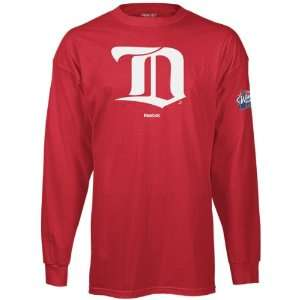 Red Wings 2009 Winter Classic Youth Red Team Logo Long Sleeve T Shirt