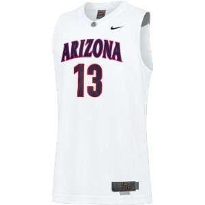 Nike Arizona Wildcats #13 White Replica Basketball Jersey