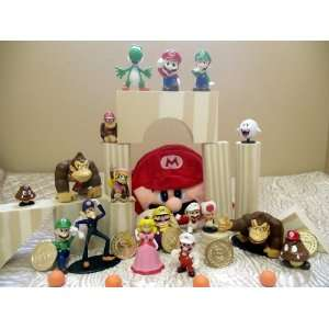 Deluxe Super Mario Brothers 37 Piece Play Set with 17 Mario Figures