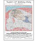 justin bieber birthday party personaliz ed word search $ 5 99 time