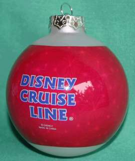 DISNEY CRUISE LINE 2007 MICKEY MOUSE CHRISTMAS ORNAMENT
