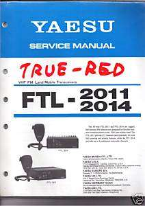 NEW Yaesu FTL 2011 FTL 2014 Service Manual book in English