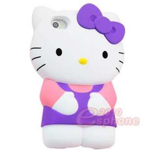 Lovely 86hero Disney 3D Hello Kitty Hard Case Cover For iphone 4 4G 4S