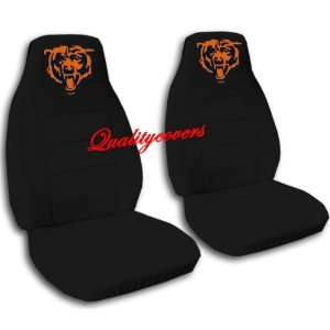 2 black car seat covers with a bear for a 2001 Honda fit
