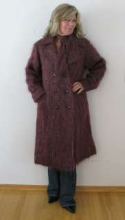 VTG 70S BARDOLINO ENGLAND LADIES MOHAIR PURPLE FUZZY COAT JACKET WITH
