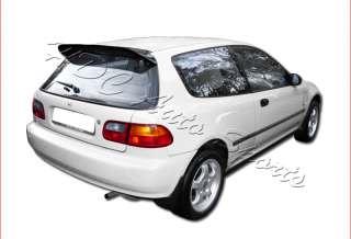 1992 1995 HONDA CIVIC 3D SPOON BLACK PAINTED RACING REAR SPOILER WING