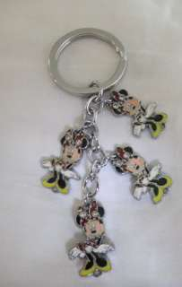 DISNEY MINEY MOUSE KEYCHAIN KEY CHAIN RING SUPER CUTE