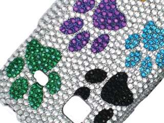 DOG PAWS BLING HARD CASE COVER SAMSUNG GALAXY PREVAIL