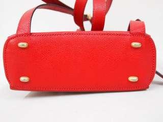 VINTAGE CELINE MINT CONDITION LIPSTICK RED BACKPACK SHOULDER BAG PURSE