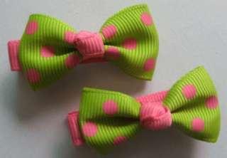 10 pairs of girls baby dot hair bow dot clip hairpin