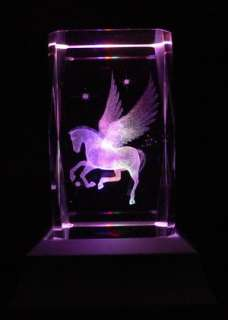 Pegasus Laser Collectable Crystal LED Night Light Gift