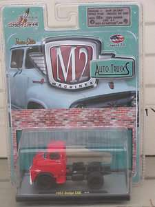 64 BY M2 AUTO TRUCKS 1957 DODGE COE SEMI CAB RED M66 811469010048