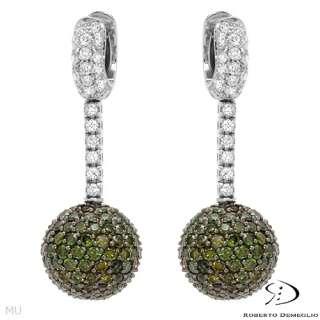 ROBERTO DEMEGLIO 5.85 CTW Diamonds 18K Gold Earrings