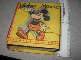 DISNEY Mickey Mouse 1933 FIRST #1 Big Little Book BLB comic #717