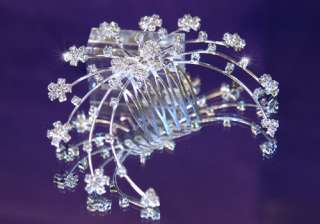 Bridal Wedding Prom Butterfly Crystal Hair Comb T1054