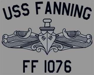 USN US Navy USS Fanning FF 1076 Frigate T Shirt