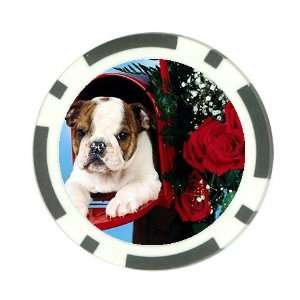 Cute valentine puppy Poker Chip Card Guard Great Gift Idea
