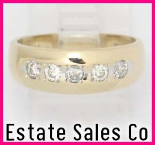 14ky Gold Round Diamond Anniversary Band Ring .30ct