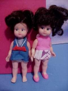 1970 Miki 3 Childs Travel Dolls w/Case & Accessories
