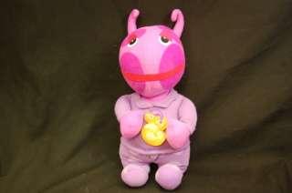 12 Plush Singing Good Night Backyardigans Uniqua Pink Stuffed Animal