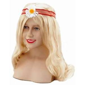 60s Hippy Flowerpower Fancy Dress Wig Inc FREE Wig Cap