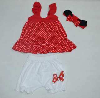 Girl Baby Ruffle Top+ Pants+Headband Set 0 36M Bloomers 3 PCS Outfits