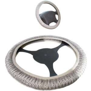 Steering Wheel Cover for Car   Gray (Linen Car Steering Wheel Cover