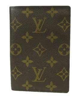 Louis Vuitton LV Monogram Canvas Travel Passport Holder Business Card