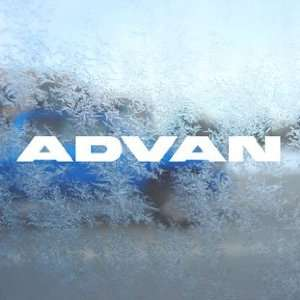 Advan White Decal JDM Drift Racing EVO Civic Car White