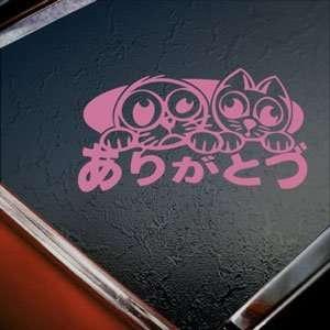 JDM Drift Option Racing Lucky Cat Pink Decal Car Pink