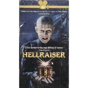 HELLRAISER   VHS VIDEO (!) CLIVE BARKER Books