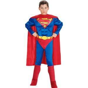 Superman Costume Large 10 12 Padded Muscle Chest Toys