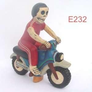 Motorcycle Rider, dia de los muertos hombre en moto