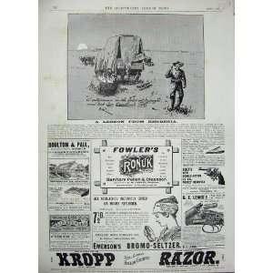1896 Advertisement Kropp Razor Beecham Pills Revolver