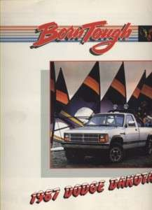1987 Dodge Dakota Truck CDN Sales Brochure Book