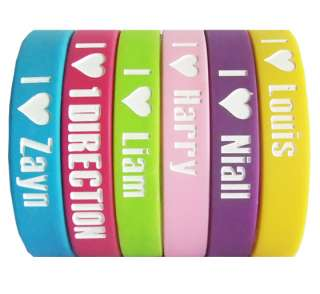 Love 1 ONE DIRECTION Zayn Liam Harry Niall Louis silicone wristbands