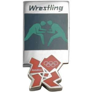London 2012 Olympics Wrestling Pictogram Pin