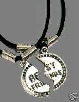 Funky BEST FRIEND PUZZLE NECKLACE Retro Gift Jewelry PR