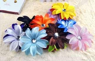 13pcs GIRL Baby Girl Lady Crystal Tropical Lily Head Flower Hair Clip