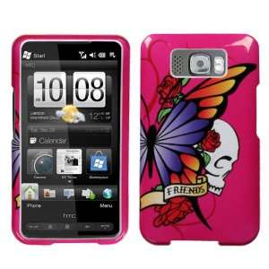 HTC HD2 Best Friend Hot Pink Hard Case Snap on Cover