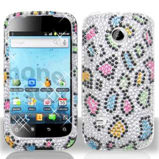 Rainbow Leopard Bling Case Cover for Huawei Ascend II 2