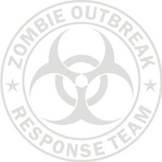 Zombie Outbreak Response Team Frosted (Etch Glass) Die Cut Vinyl Decal