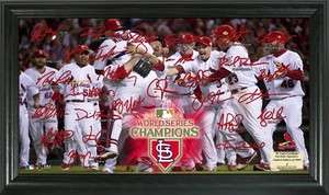 St. Louis Cardinals 2011 World Series Champions Celebration Signature