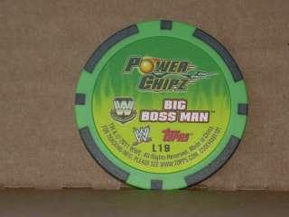 2011 Topps WWE Power Chipz BIG BOSS MAN L19 Legend Chip