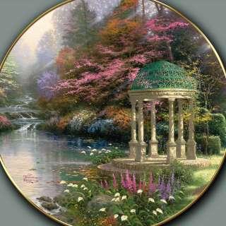 Thomas Kinkade Blessings Of Faith Framed Shadowbox Plate Limited To