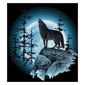 T shirts Animals Wildlife Wolf Moon L