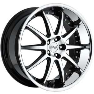 Niche Spa 18x8 Machined Black Wheel / Rim 5x120 with a 15mm Offset and